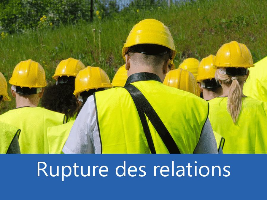 rupture des relation chantier 73, problème durant le chantier Chambéry, stress chantier Savoie, problème durant le chantier Albertville,